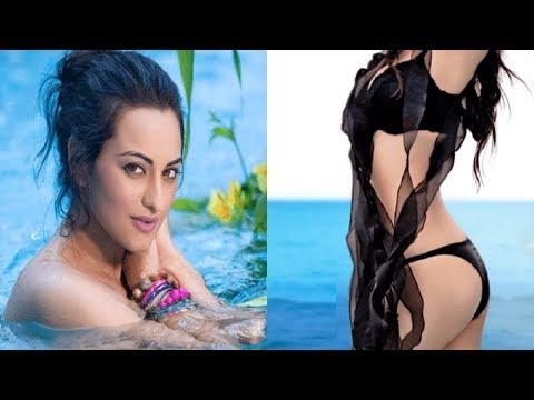 OMG Watch Sonakshi Sinha's New Hot Bikini Avatar Hot Bikini Photoshoot _ Sonakshi Sinha Hot Pics