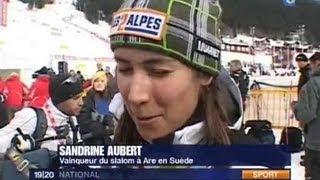 [Ski alpin : 2ème victoire au slalom en coupe du monde pour Sandrine Aubert]