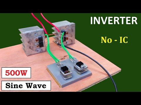 500W Sine Wave Inverter ( 12v to 220v DC to AC Converter ) with UPS Transformer - No IC