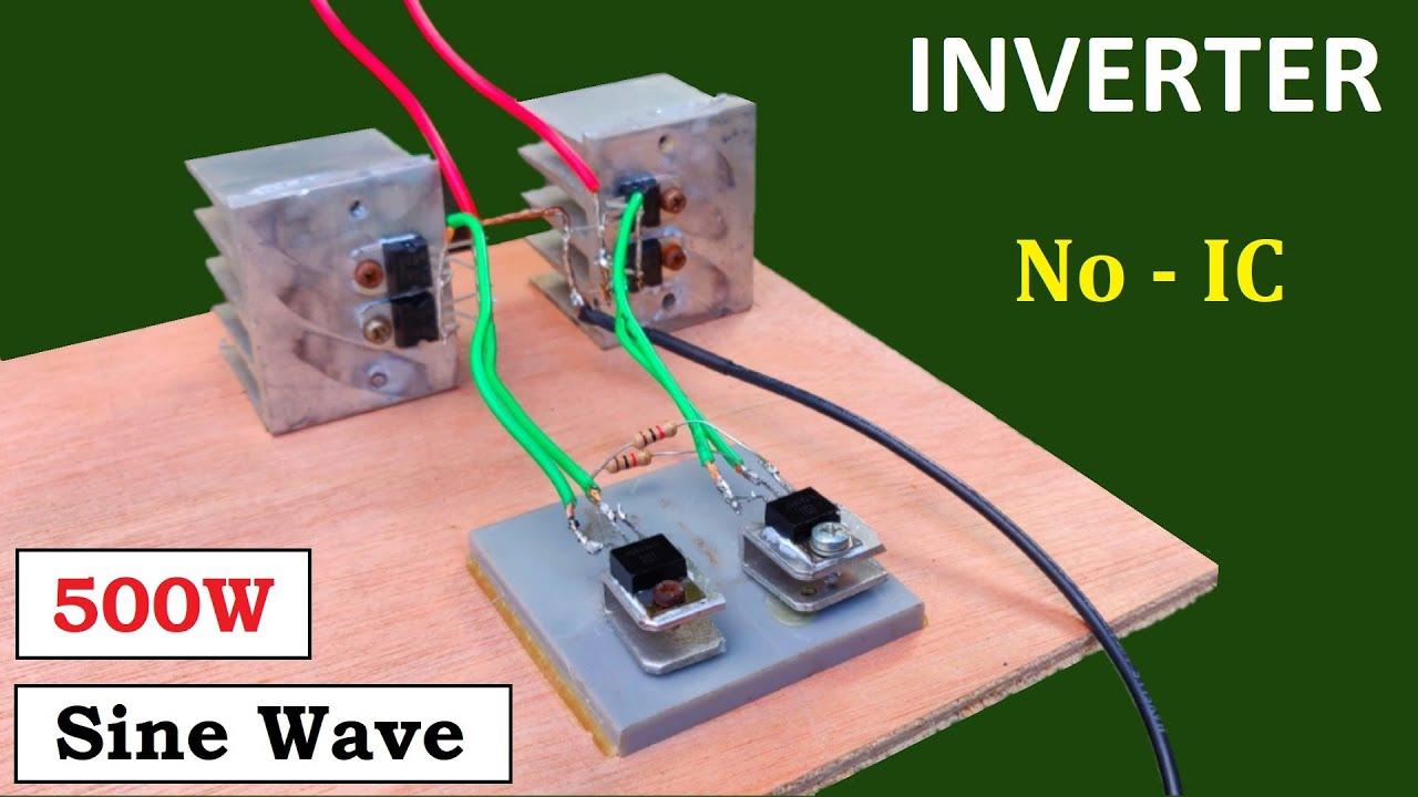 500W Sine Wave Inverter ( 12v to 220v DC to AC Converter ) with UPS Transformer - No IC