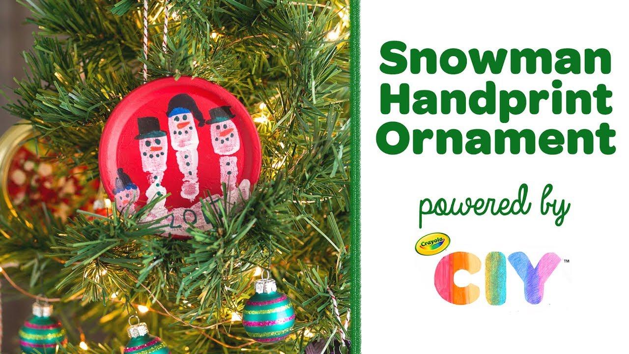 Diy snowman handprint ornament crayola ciy create it yourself diy snowman handprint ornament crayola ciy create it yourself week of ornaments solutioingenieria Choice Image
