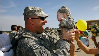WELCOME HOME DADDY  -  Soldiers Homecoming Surprise Their Kids Compilation