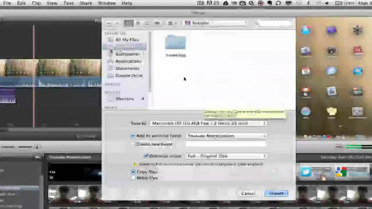 How to add youtube video to imovie.