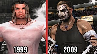 The Evolution Of Jeff Hardy In WWE Games! ( WWF WrestleMania 2000 To SVR 2010 )
