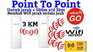 Nembak wifi.id dengan 2 buah tenda 03, jarak lebih dari 1 KM ,