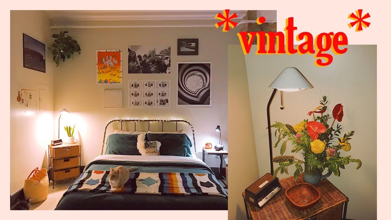 Decorating our *VINTAGE AESTHETIC* Bedroom @kel.lauren ... on Room Decor Aesthetic id=88921