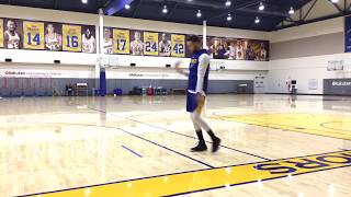 Steph Curry shoots around with the help of Steve Nash after Warriors practice, day before Lakers