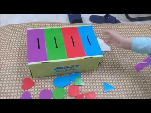 Cách làm hộp xếp hình đồ chơi cho bé từ 1-3 tuổi  – How to make a box of toys for kids 1-3 years old
