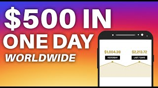 Get Paid $500 IN ONE DAY *Worldwide* (Make Money Online Now)