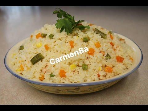 Arroz blanco con verduras youtube - Arroz con pescado y verduras ...