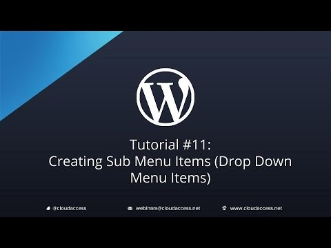 Tutorial #11: Creating Sub Menu Items (Drop Down Menu Items) in WordPress