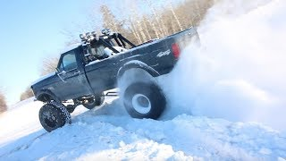 Lifted Truck SNOW DAY + Side By Side Drift BANGING