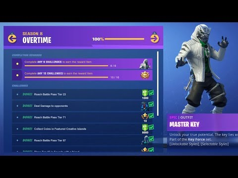 New Free Overtime Challenges Rewards 2000 Wins Code Byarteer Fortnite Battle Royale Live Youtube