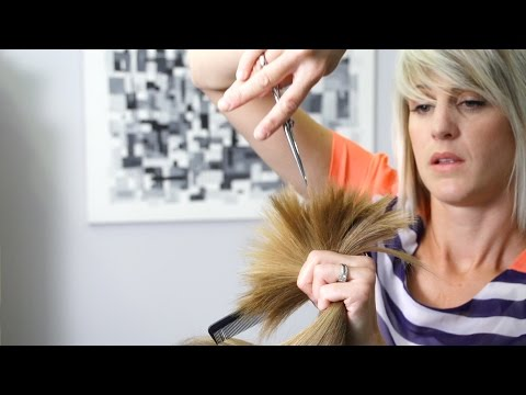 Women's Haircut: How to Cut Soft Layers in Long Hair