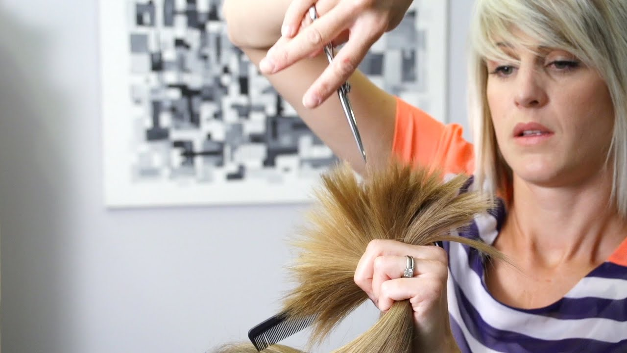 How to cut Soft Layers in Long Hair // Women39;s Haircuts  YouTube