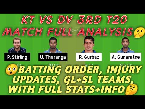 KT vs DV Dream11 | KT vs DV | KT vs DV Dream11 Team | 3rd T20 | Lanka Premier League | kt vs dv