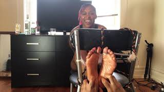 Queen Veiny Feet tickled by BK Tickler!
