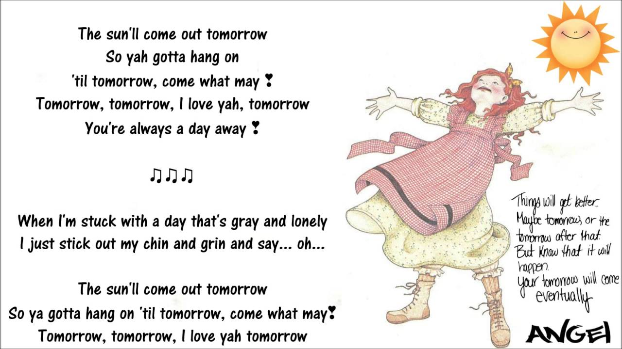 Tomorrow (annie) Lyrics - YouTube