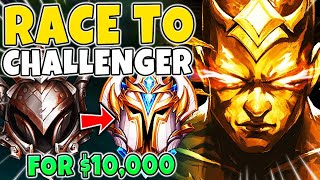 TAKING MY LEE SIN FROM IRON TO CHALLENGER (FOR $10,000) - League of Legends
