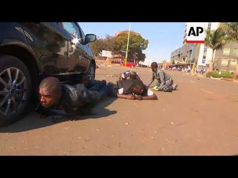 Gunfire disperses angry opposition protesters in Harare