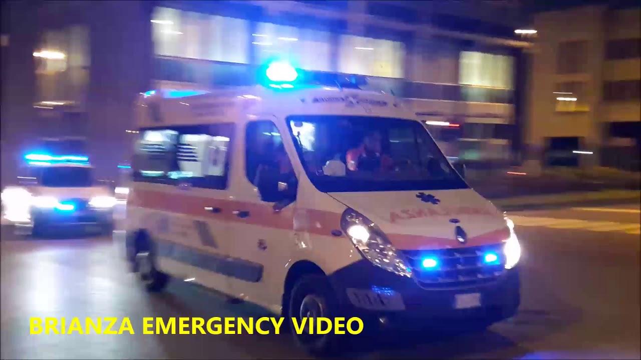 Ambulanza Croce Bianca Biassono in emergenza