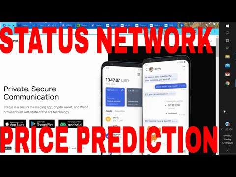 Status Coin Price Prediction  Status Network Token Coin Rising Status Cryptocurrency News Today