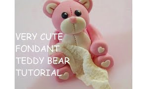 Teddy Bear Cake Topper How To