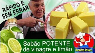 SABÃO CASEIRO POTENTE DE VINAGRE E LIMÃO