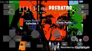 PlayStation2 PS2 Android Emulator Play! v0.30 Aliens vs Predator - Extinction Game Play