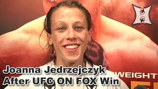 Ufc On Fox's Joanna Jedrzejczyk On Debut Win Over Juliana Lima