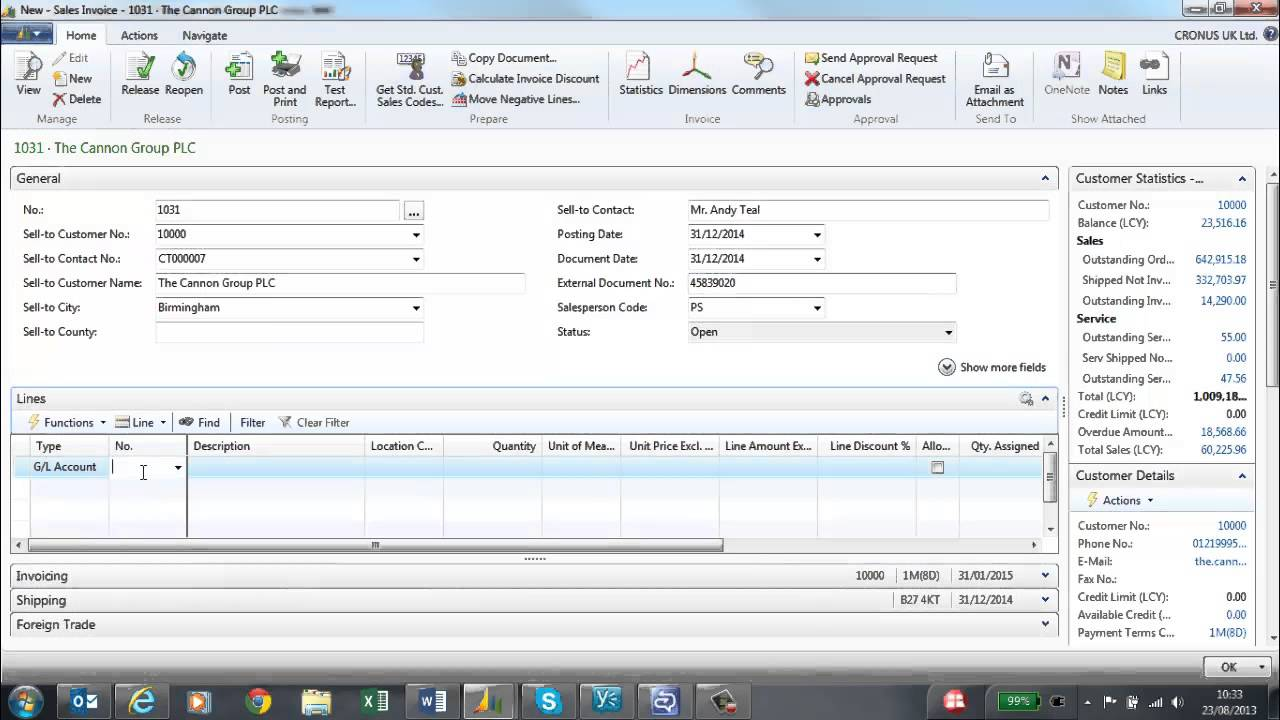 s invoices in microsoft dynamics nav 2013 s invoices in microsoft dynamics nav 2013