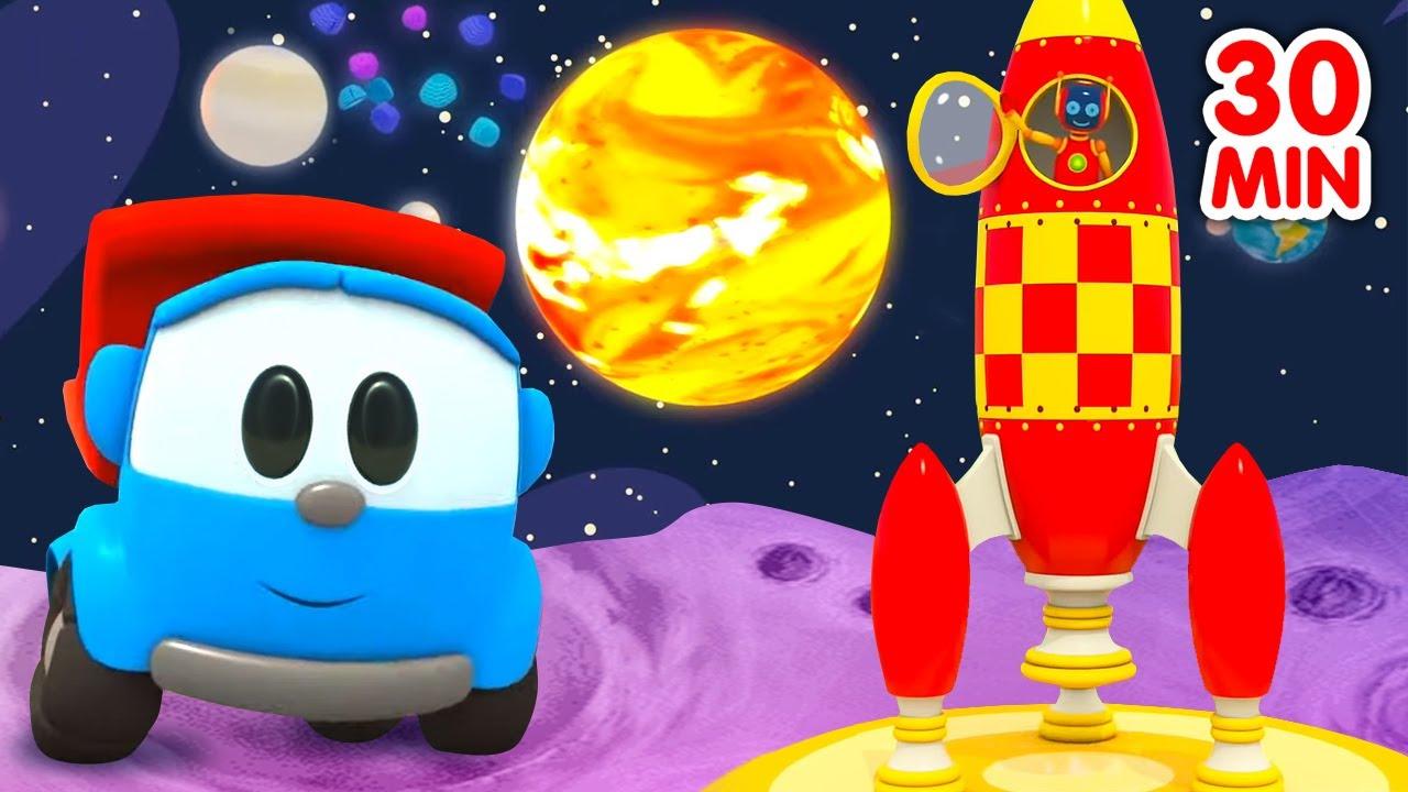 Car Cartoons for Kids & Street Vehicles - Leo the truck & kids' rhymes.