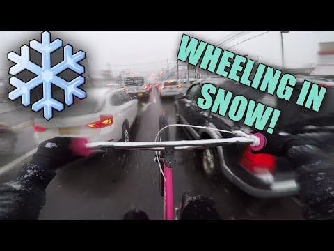 WHEELING IN A SNOWSTORM! (NYC)