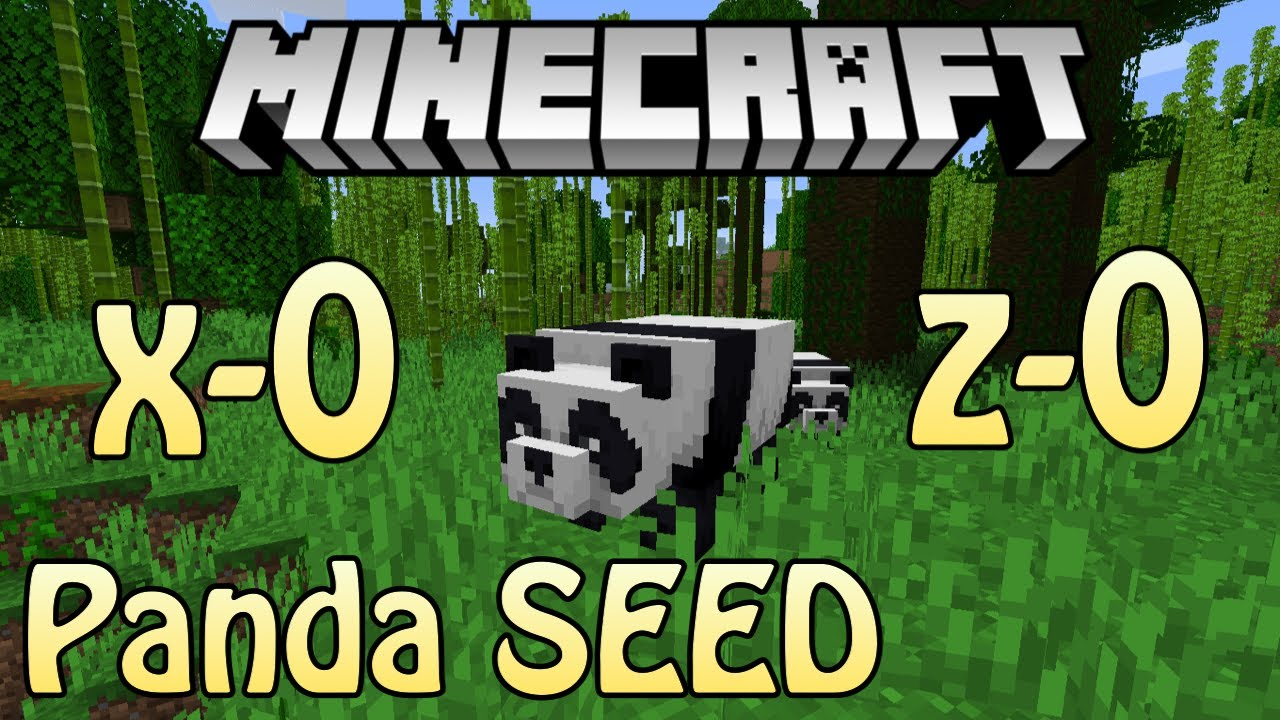 Minecraft 1 14 Pandas Seed In Bamboo Jungle At 0 0 Youtube