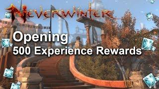 Neverwinter: Opening my 500 Experience Rewards