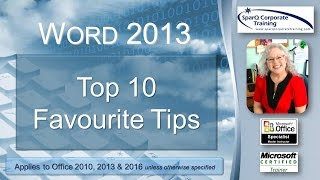Word 2013 - Top 10 Favourite Tips