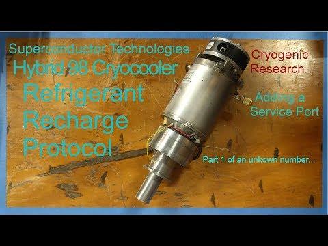 Superconductor Technologies Hybrid 98 Cryocooler Service Port Installation