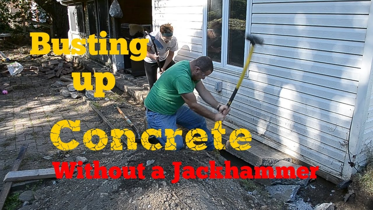 Busting Up Concrete Without A Jackhammer You