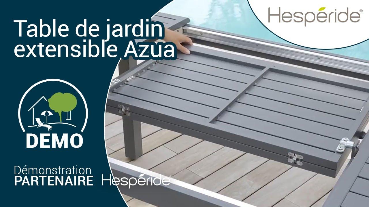 Système de rallonge de la table de jardin extensible Azua ...