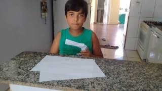 Como fazer uma arma de papel que não atira