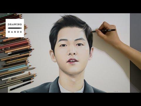 ���!�ki_SpeedDrawingDescendantsoftheSun-Songjoongki[DrawingHands]-YouTube
