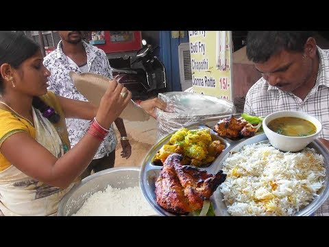 It's a Lunch time in Hyderabad | Chicken Rice Starting @ 50 Rs Only | Street Food India