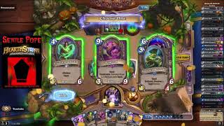 Hearthstone BDP: Dual Arena - Warlock Priest vs Druid Rogue (Season 55 Day 20)