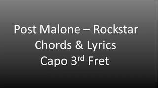 Download lagu Post Malone ft. 21 Savage Rockstar Chords & Lyrics