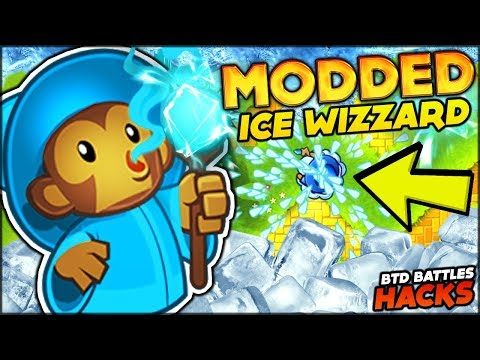 NEW MODDED ICE & SHOCK WIZZARD VS ROUND 100 ZOMGS IN BTD BATTLES HACK / MOD (Bloons TD Battles)