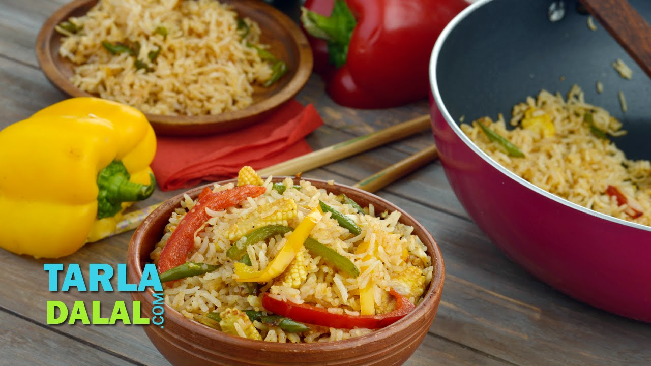 Jain vegetable fried rice how to make jain chinese rice recipe by jain vegetable fried rice how to make jain chinese rice recipe by tarla dalal youtube forumfinder Image collections