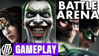 ◢Injustice: Gods Among Us Multiplayer Gameplay - King of the Hill Battle Arena