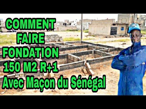 COMMENT FAIRE FONDATION MAISON 150 M2 R+1 avec maçons du Sénégal