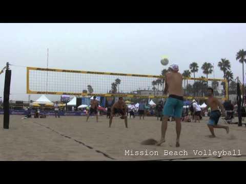 2013 AVP Manhattan Beach Open Olson and Morrison vs. Fuerbringer and Jennings Game 1