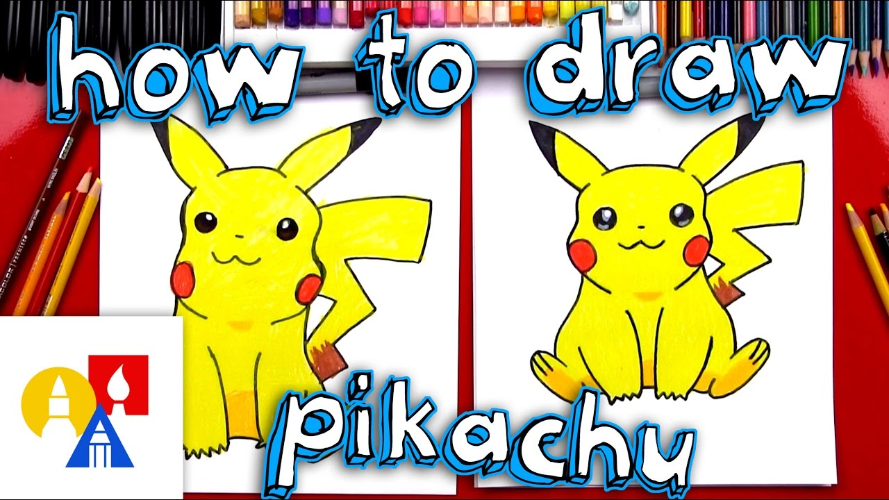 How to draw pikachu with color youtube